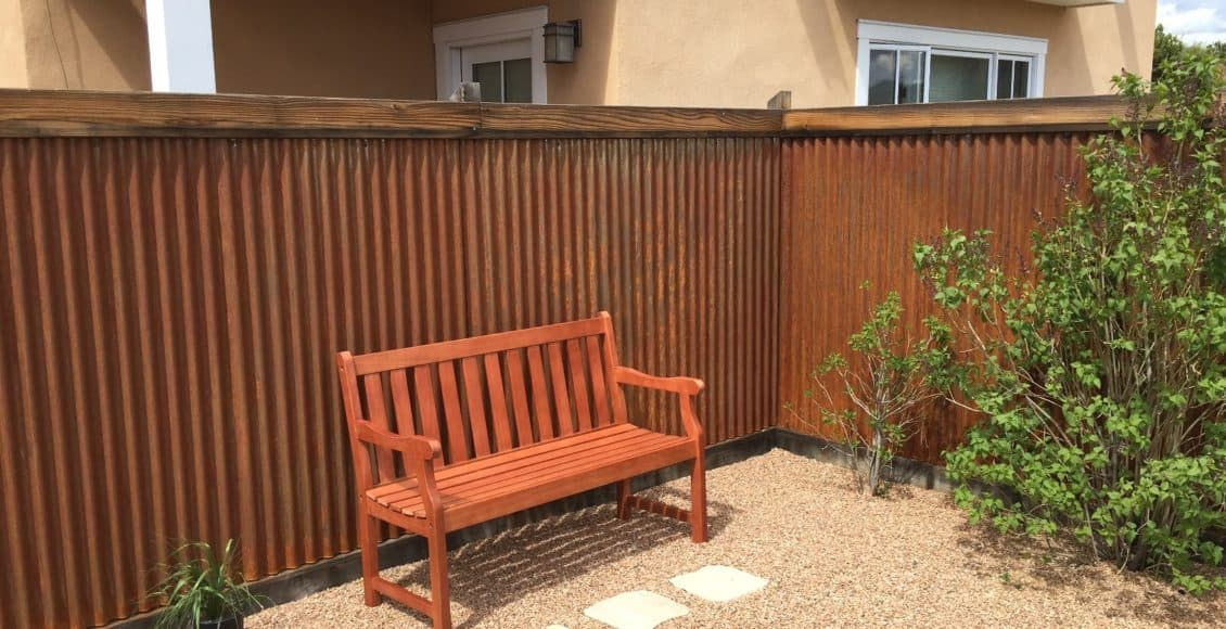 Build an Instant Rusted Corrugated Metal Fence | Home